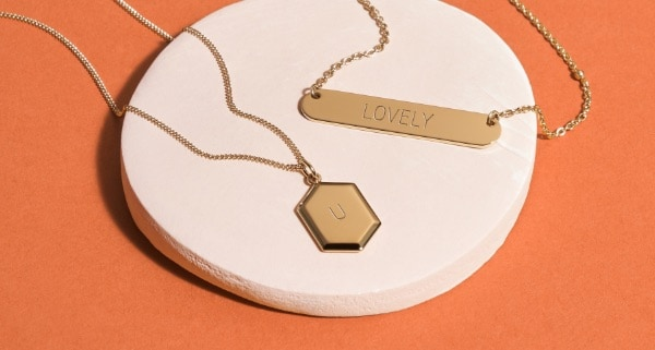 Engravable jewelry.