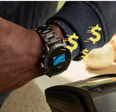 A Gen 5 Smartwatch displaying Google Pay.