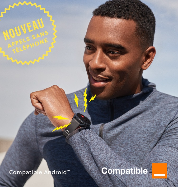 A man answers a phone call on a Gen 5 LTE Smartwatch