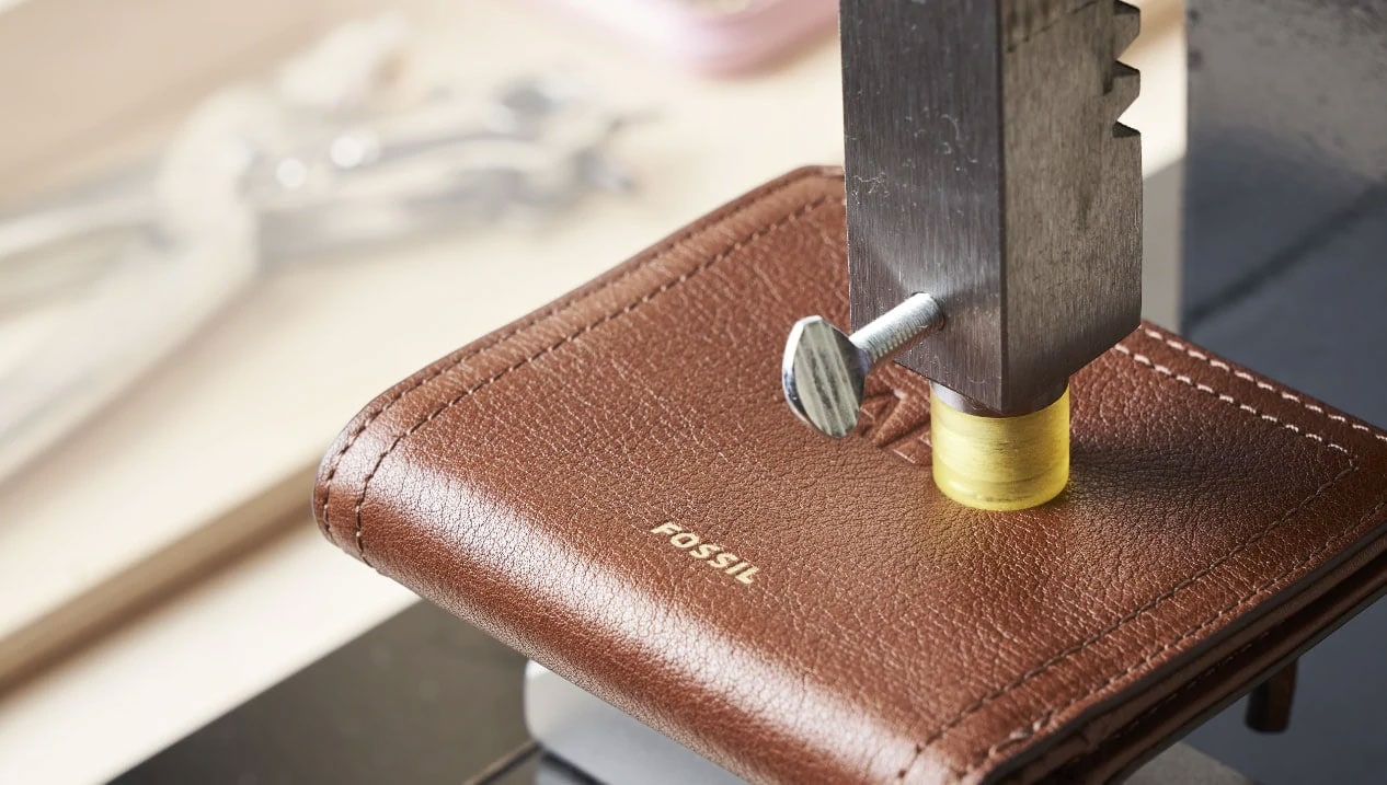 leather being embossed