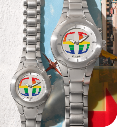 two stainless steel big tic watches