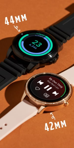 A 42 mm and a 44 mm Gen 5E smartwatch