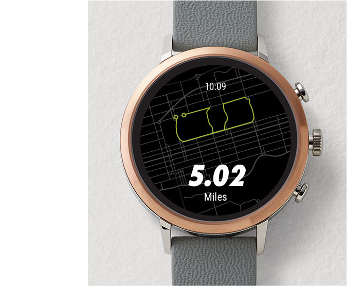 A Gen 4 smartwatch displaying the Google Pay screen.