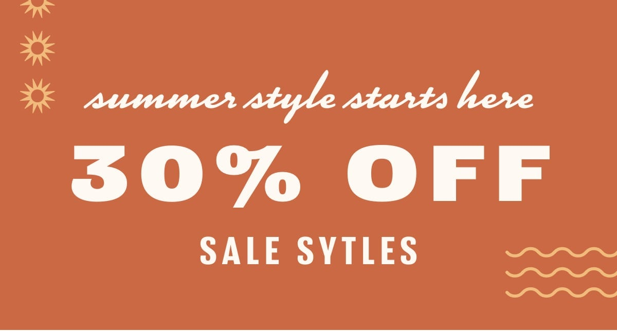 30% Off Sale Styles