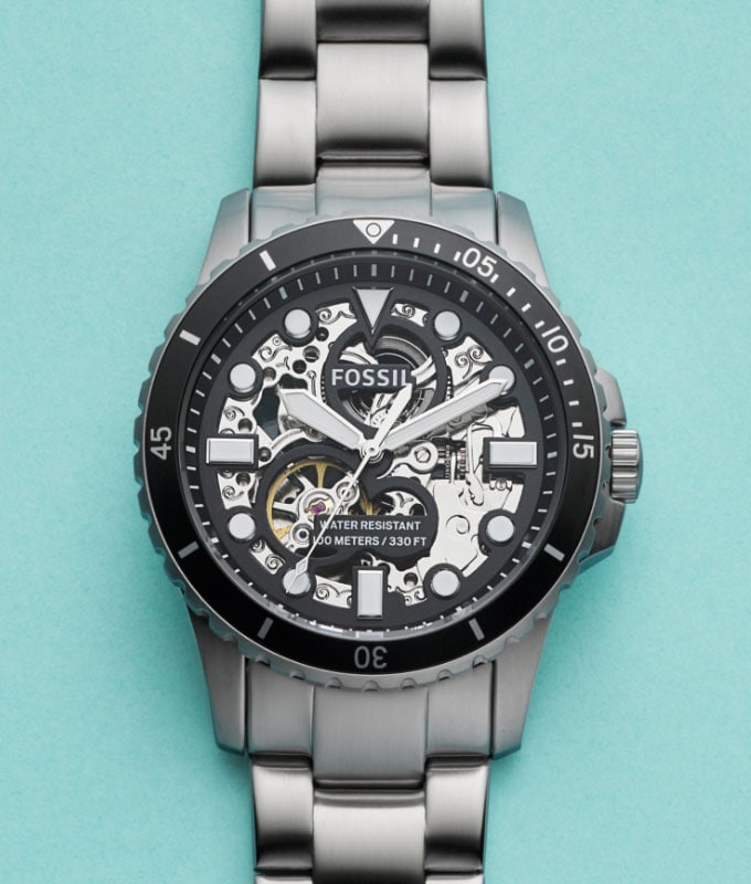 Men's stainless-steel watch.