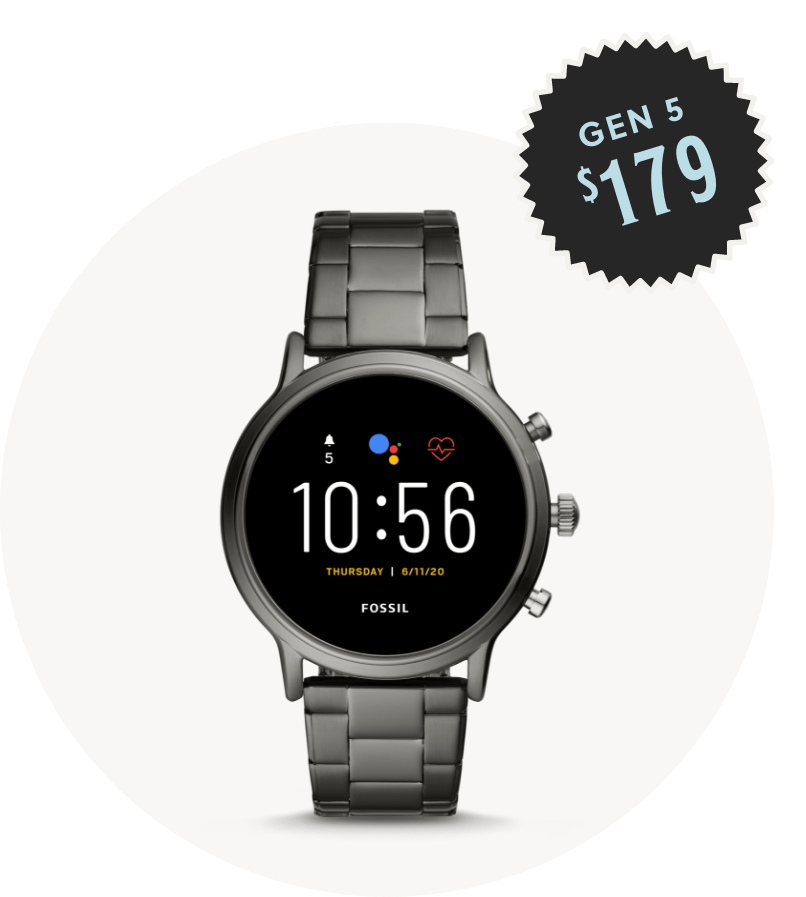 Men's stainless steel Gen 5 smartwatch $179.