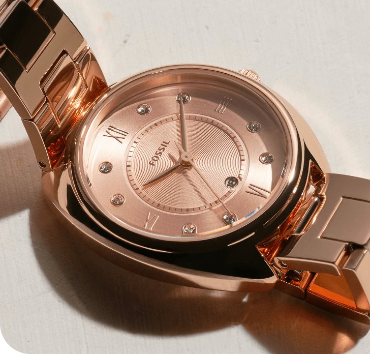 Rose gold-tone Gabby watch.