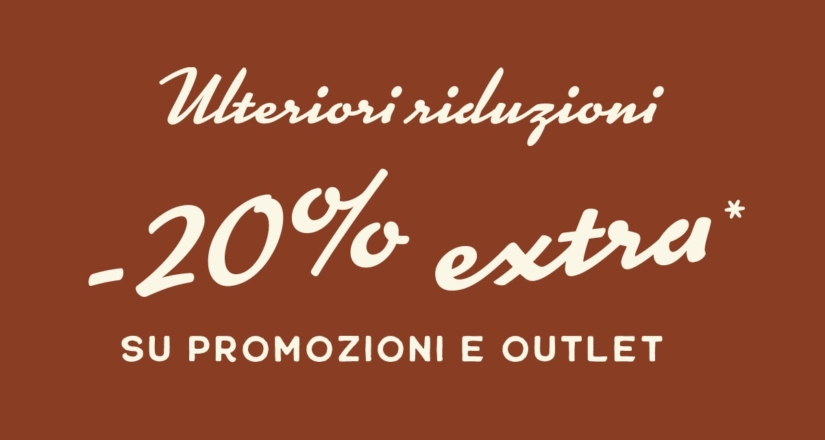 SALE ON SALE. Extra 20% off*. sale & outlet.