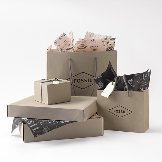 Fossil gift packaging.