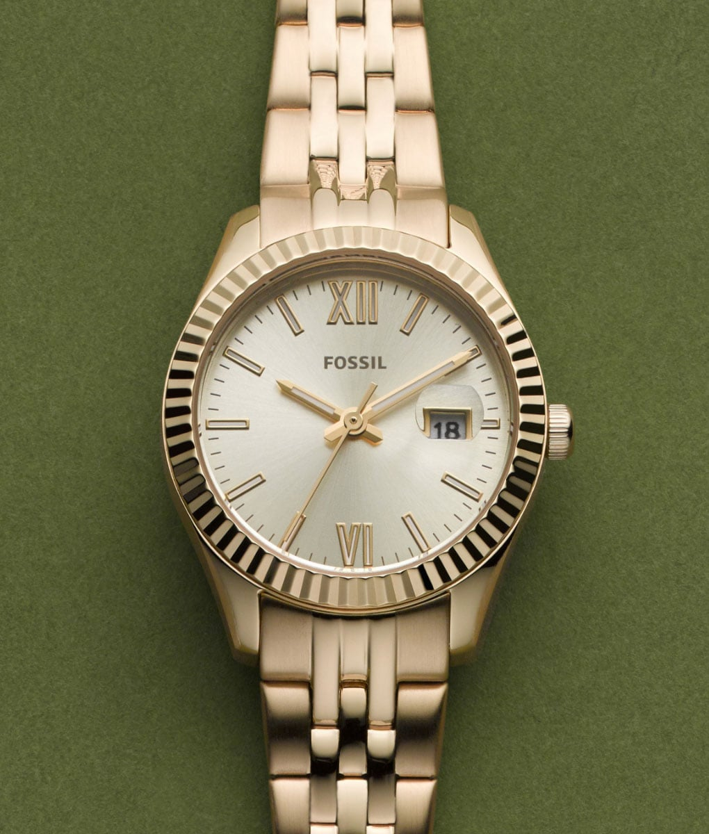 Women's gold-tone watch.