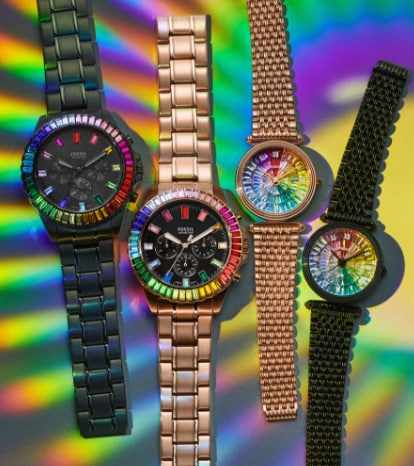 Collection of Rainbow watches.
