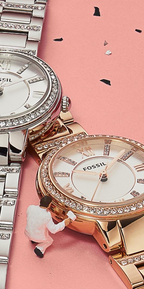 montres pour femmes avec glitz