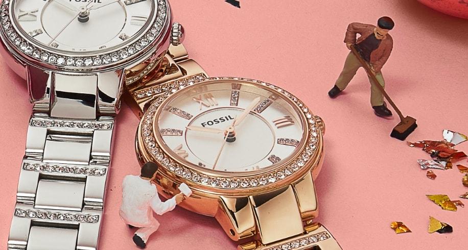 Damenuhren mit Glitz-Details