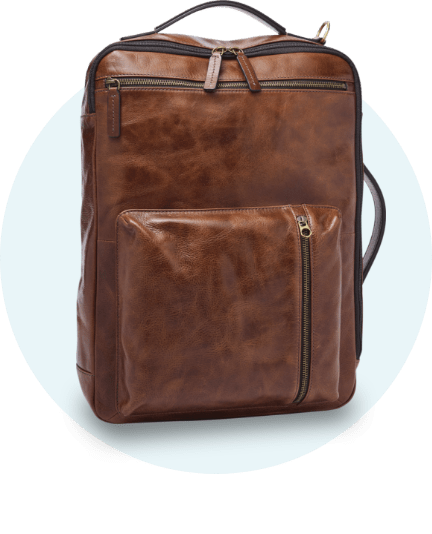 Men's leather bag.