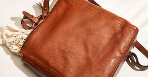 Brown leather Parker bag.