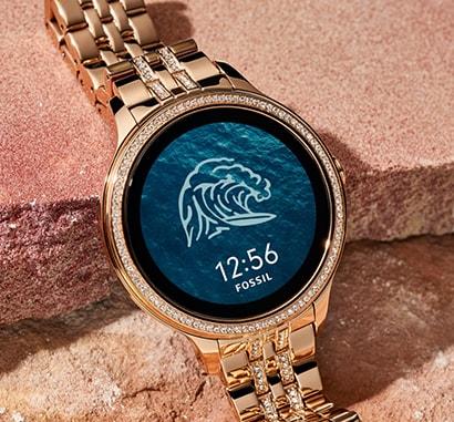 Smartwatch Fossil Gen5E con quadrante acqua/onda