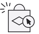 payment options icon with cash and a credit card