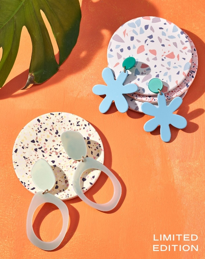 Bijou Karman x Fossil statement earrings.