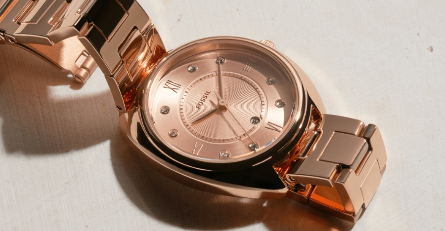 Gold-tone Gabby watch.