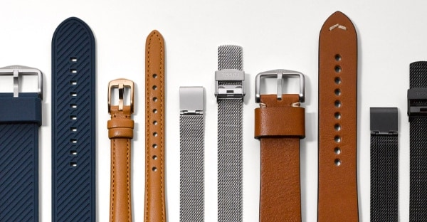 A collection of leather and nylon straps.