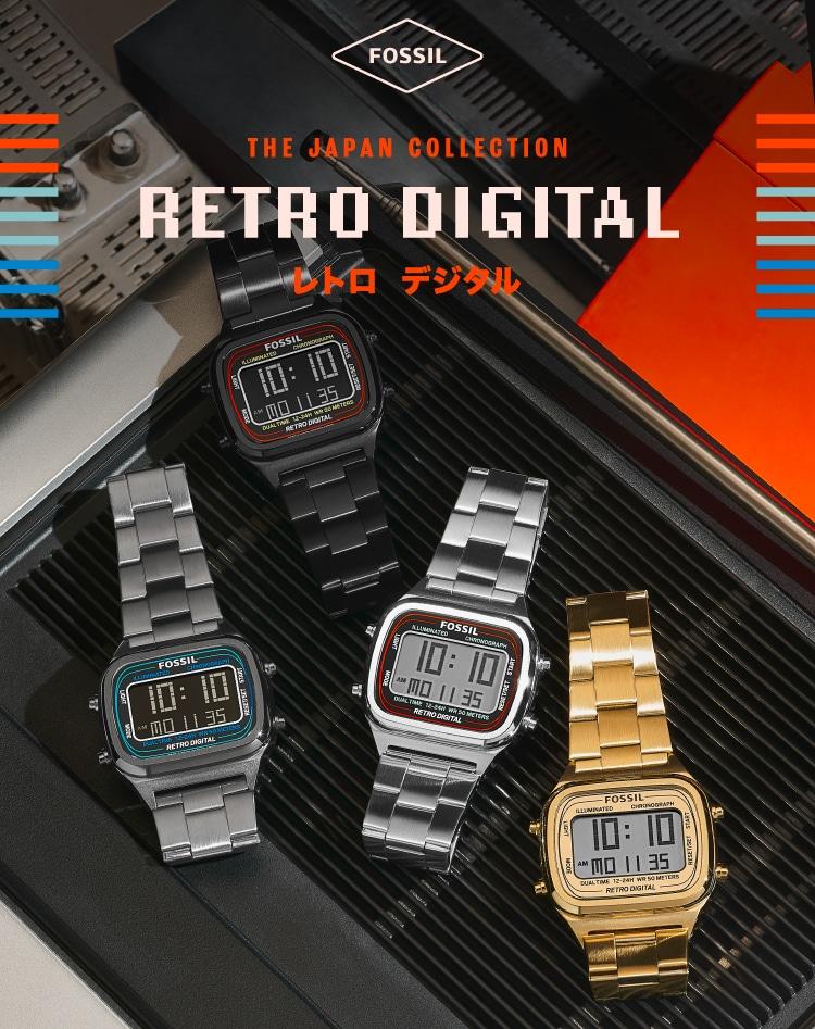 Retro Digital Logo and 4 Retro Digital watches feature shot