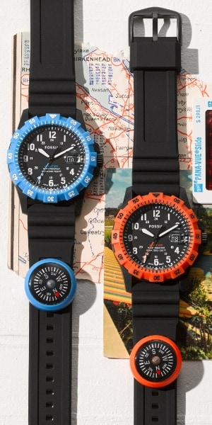 Two FB-Adventure watches on maps.