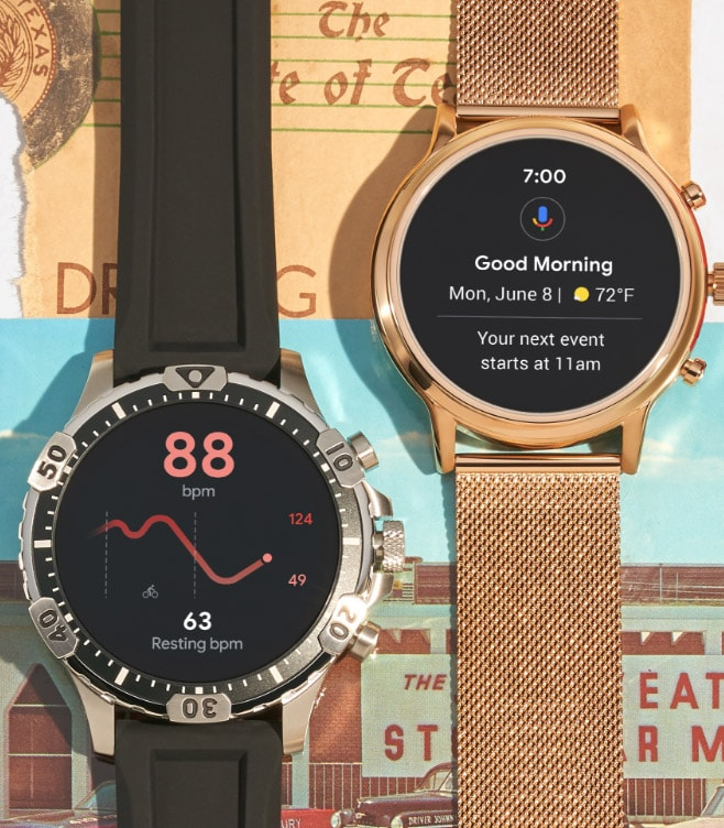 A Gen 5 smartwatch displaying 'Got it, setting thermostat to 68 degrees.'