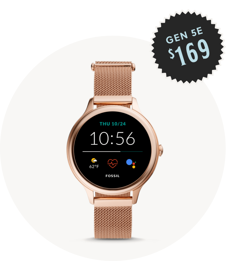Women's stainless steel gold-tone Gen 5E smartwatch $169.