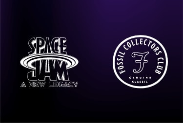 Space Jam by Fossil logo. | Collectors Club logo.