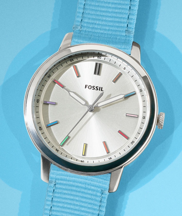 Pride watches with choice of rainbow straps