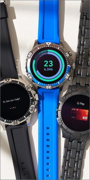 Three Gen 5 smartwatches.