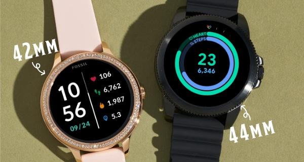 Une montre intelligente Gen 5E de 42mm et de 44mm
