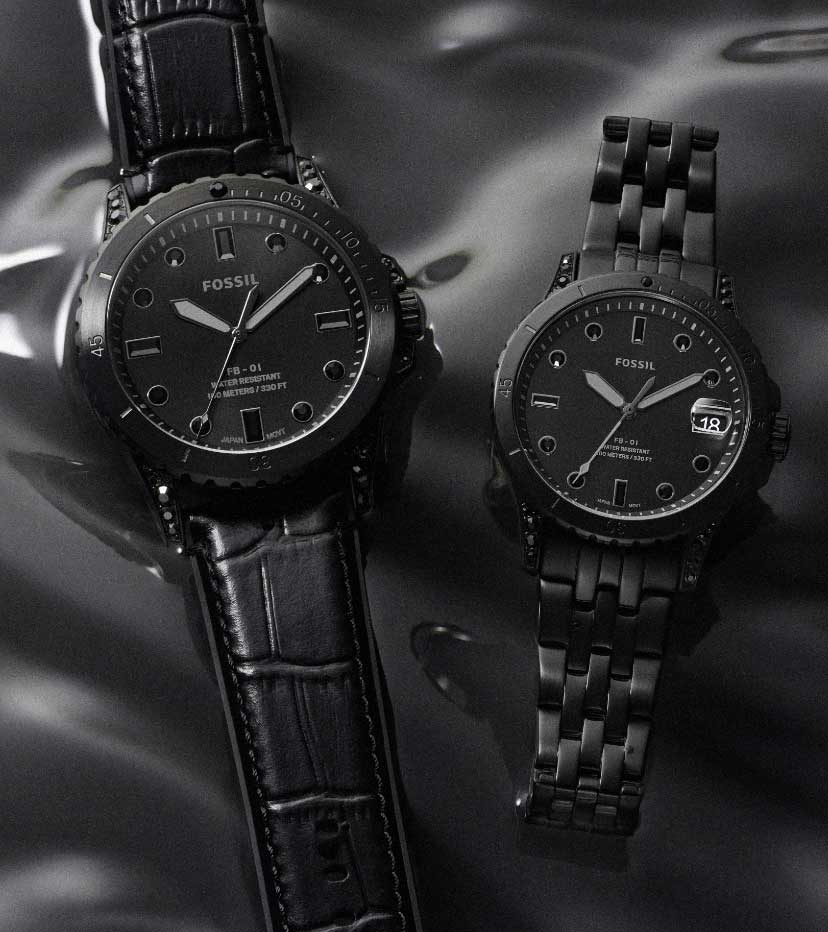 Collection of blackout Dive watches.