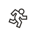 A running person icon