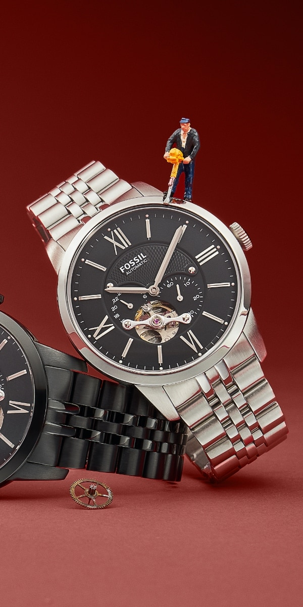 Men's stainless steel watch.