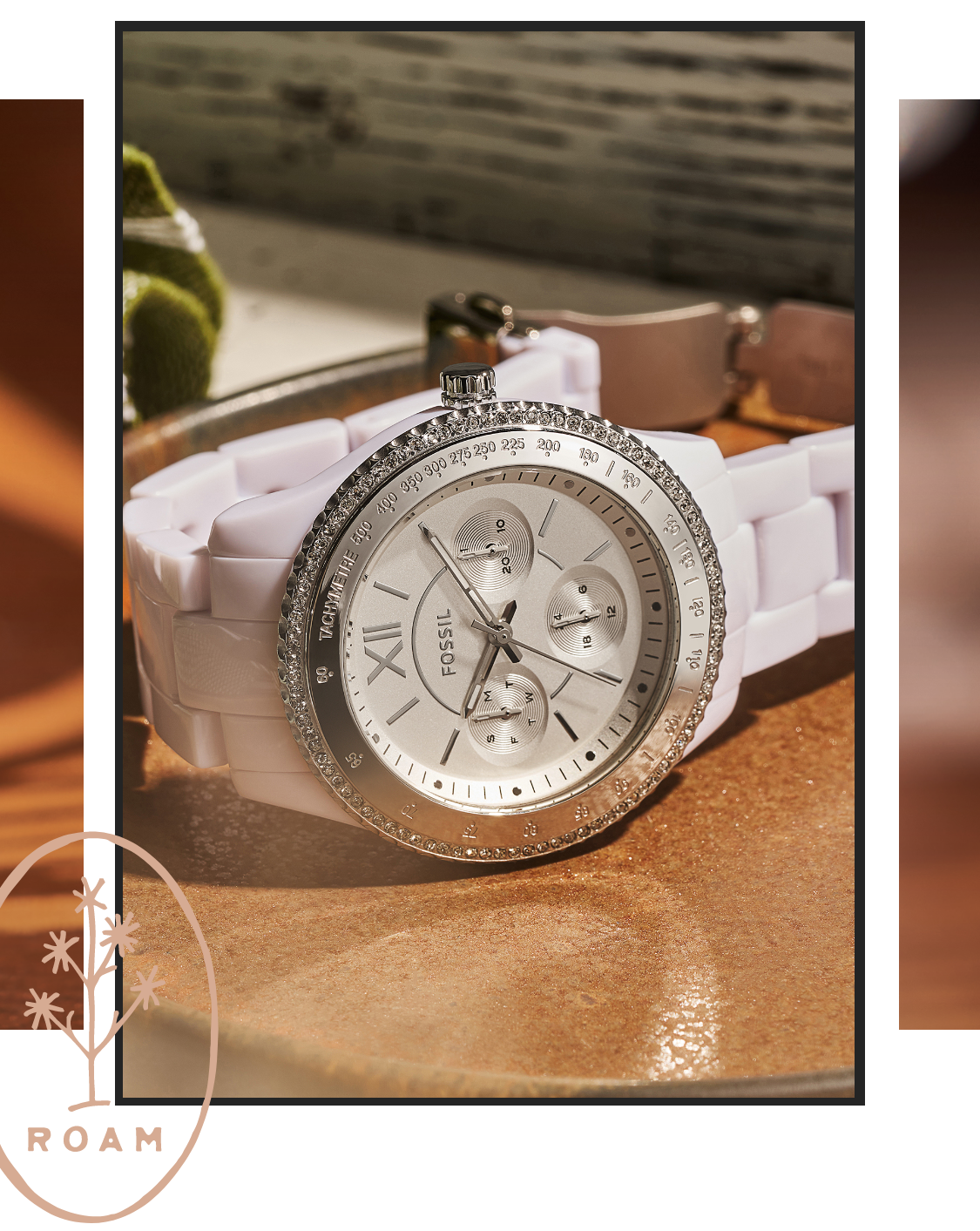 Best of the Best Stella. A video of a woman wearing a gold-tone Stella watch and an image of a gold-tone Stella watch.
