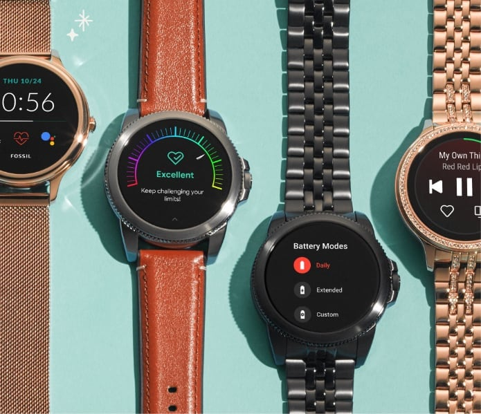 Assortment of Gen5 smartwatches.