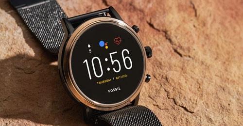 A stainless steel Gen 5 smartwatch.