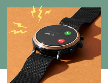 A Gen 5 Smartwatch displaying an incoming call.