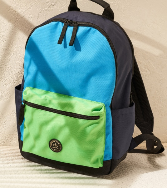 Sport backpack in the shade.