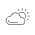 A sun and cloud icon