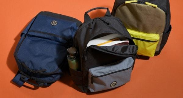 Sport backpacks.