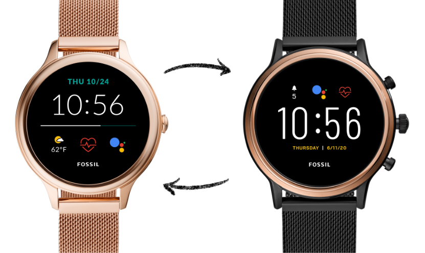 A Gen 5 smartwatch and a Hybrid HR smartwatch.
