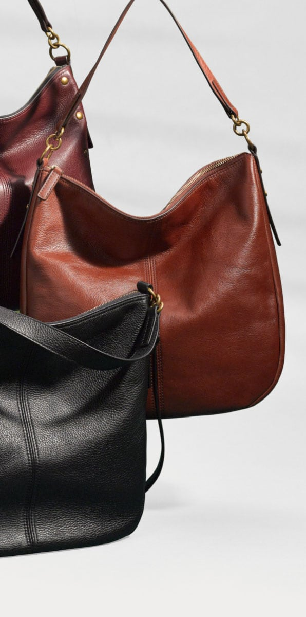Women's leather Jolie bags.